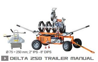 Машина стыковой сварки Delta 250 Trailer